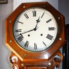 Relojes de pared: RELOJ AMERICANO, DE 1800 , FUNCIONA. Lote 152205478