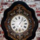 Relojes de pared: RELOJ DE PARED SIGLO XIX FUNCIONA. Lote 153188414