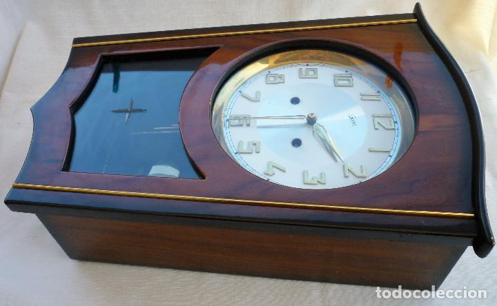Relojes de pared: RELOJ DE PARED MARCA JUNVA MADE IN GERMANI - COMPLETO – CRISTAL TALLADO - Foto 7 - 153689786