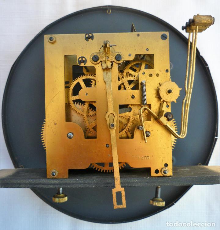 Relojes de pared: RELOJ DE PARED MARCA JUNVA MADE IN GERMANI - COMPLETO – CRISTAL TALLADO - Foto 10 - 153689786