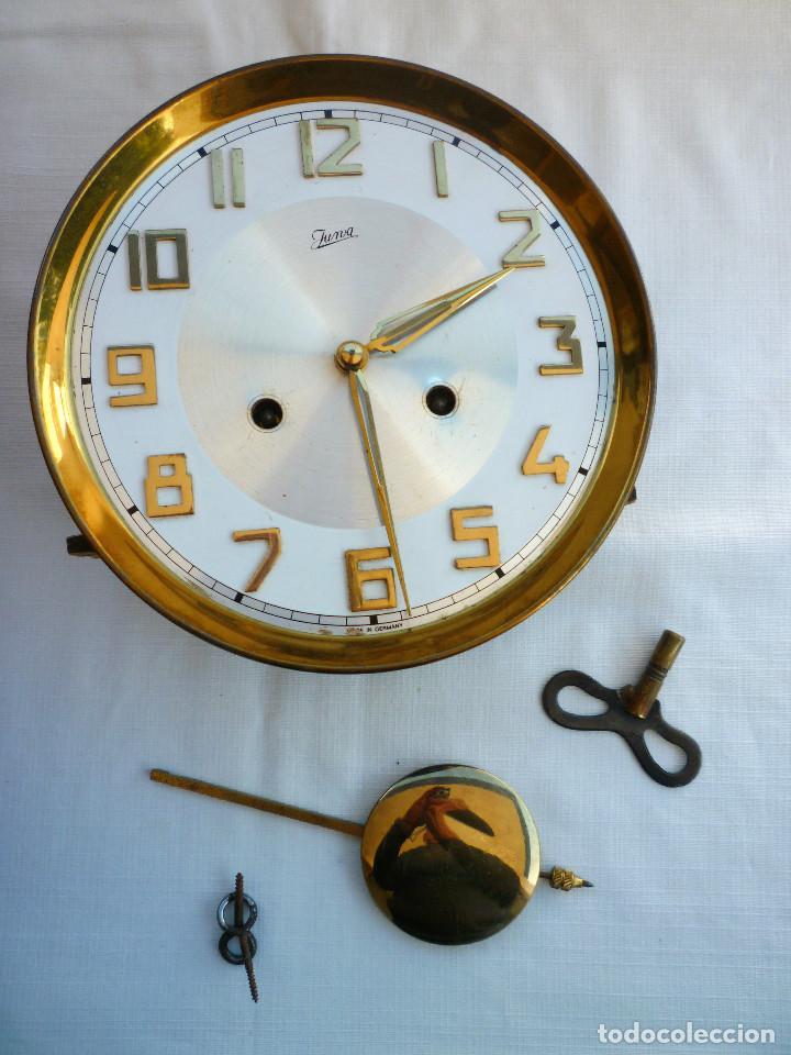 Relojes de pared: RELOJ DE PARED MARCA JUNVA MADE IN GERMANI - COMPLETO – CRISTAL TALLADO - Foto 13 - 153689786