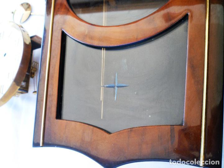 Relojes de pared: RELOJ DE PARED MARCA JUNVA MADE IN GERMANI - COMPLETO – CRISTAL TALLADO - Foto 14 - 153689786