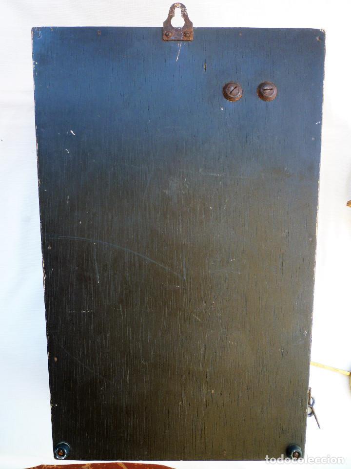 Relojes de pared: RELOJ DE PARED MARCA JUNVA MADE IN GERMANI - COMPLETO – CRISTAL TALLADO - Foto 15 - 153689786