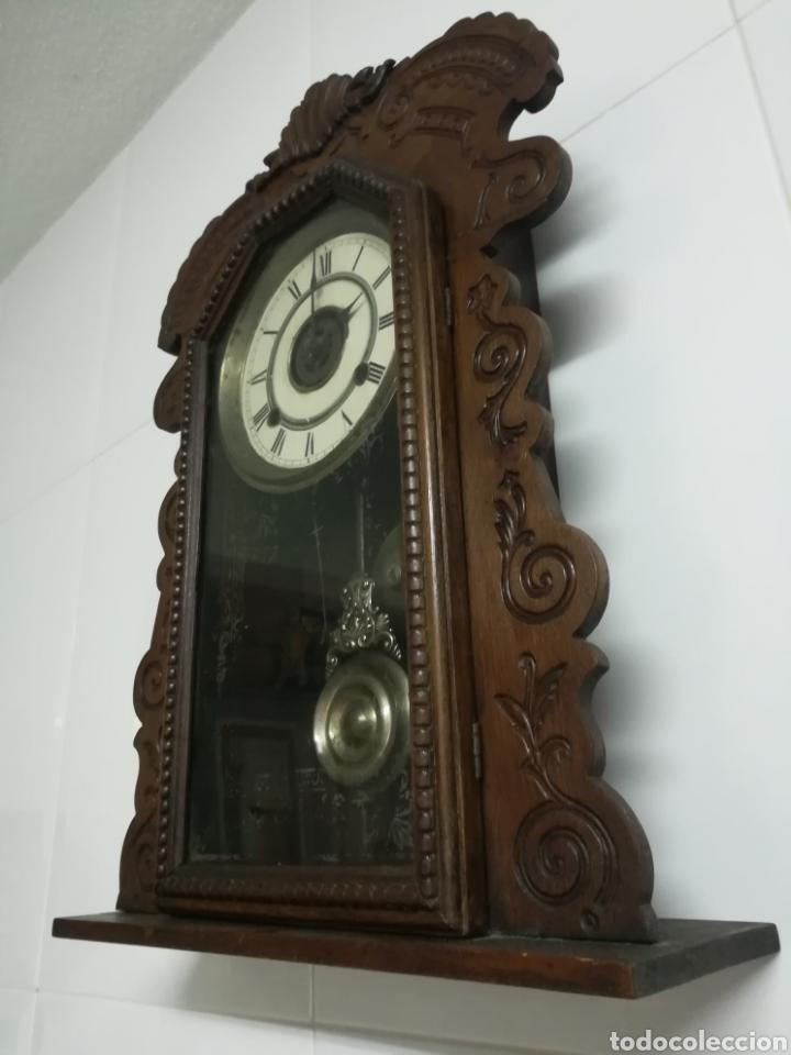 RELOJ AMERICANO SIGLO XIX (Relojes - Pared Carga Manual)