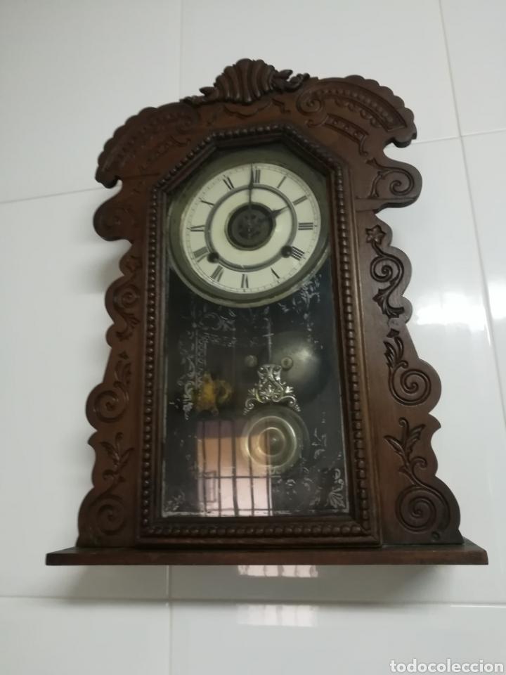 Relojes de pared: Reloj Americano siglo XIX - Foto 3 - 153929484