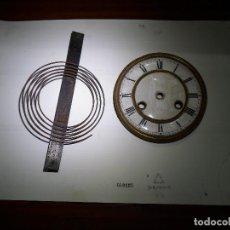 Relógios de parede: RSFERA Y SONERIA DE RELOJ DE MEDIA PAREZ. Lote 154021738