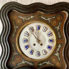 Relojes de pared: RELOJ OJO DE BUEY ESFERA DE PORCELANA. Lote 154219190