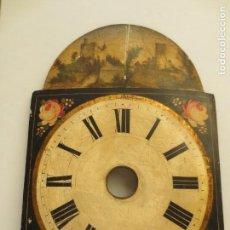 Relojes de pared: FRONTAL DE RELOJ TIPO RATERA DEL SIGLO XIX. Lote 154849734