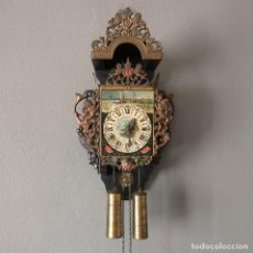 Relojes de pared: ANTIGUO RELOJ DE PARED FRISIAN FOLCLORE POPULAR HOLANDÉS MEDIADOS S XX . Lote 155347078