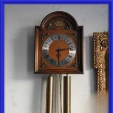 Relojes de pared: RELOJ DE CAJA TEMPUS FUGIT DE PESAS ES ALEMAN W HAID. Lote 155610986