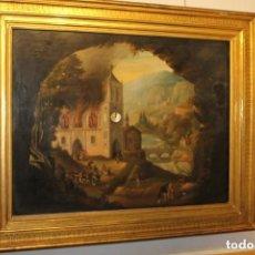 Relojes de pared: CUADRO RELOJ CON AUTÓMATA S.XIX CIRCA 1820. Lote 155689174