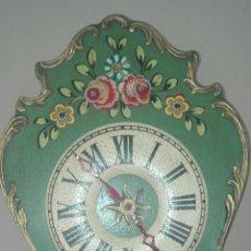 Relojes de pared: ANTIGUO RELOJ DE PARED, DE LA SELVA NEGRA,. Lote 155776362