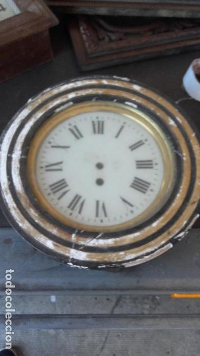 OJO DE BUEY SIN AGUJAS, MOTOR FUNCIONA. (Relojes - Pared Carga Manual)