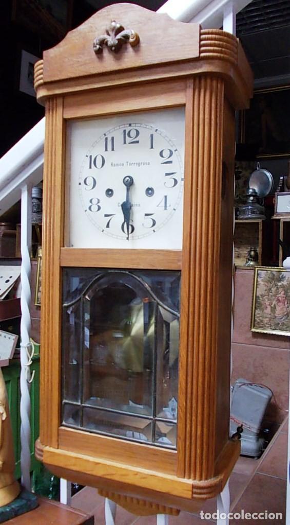 Relojes de pared: Precioso reloj de la firma Ramon Torregrosa - Foto 3 - 155958574