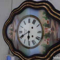 Relojes de pared: RELOJ DE PARED DE OJO DE BUEY PINTADO A MANO FUNCIONA CORRECTAMENTE . Lote 155998650