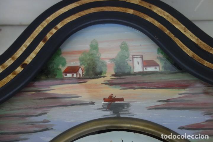 Relojes de pared: RELOJ DE PARED DE OJO DE BUEY PINTADO A MANO FUNCIONA CORRECTAMENTE - Foto 3 - 155998650