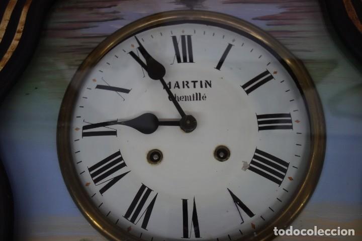 Relojes de pared: RELOJ DE PARED DE OJO DE BUEY PINTADO A MANO FUNCIONA CORRECTAMENTE - Foto 5 - 155998650