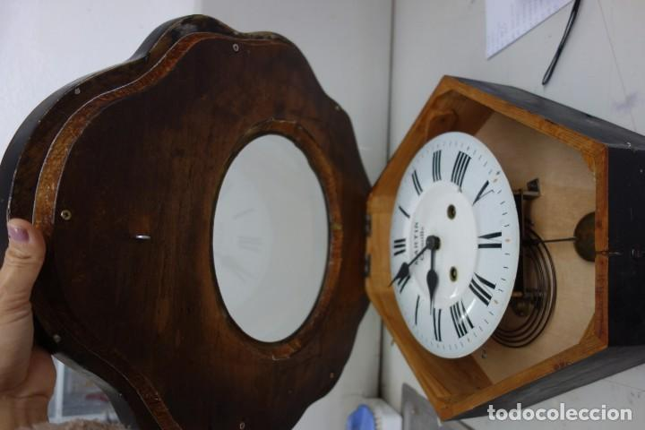 Relojes de pared: RELOJ DE PARED DE OJO DE BUEY PINTADO A MANO FUNCIONA CORRECTAMENTE - Foto 6 - 155998650