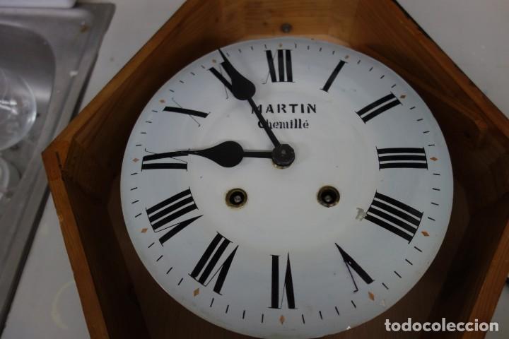 Relojes de pared: RELOJ DE PARED DE OJO DE BUEY PINTADO A MANO FUNCIONA CORRECTAMENTE - Foto 7 - 155998650