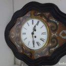 Relojes de pared: RELOJ DE PARED DE OJO DE BUEY PINTADO A MANO FUNCIONA CORRECTAMENTE . Lote 155998766
