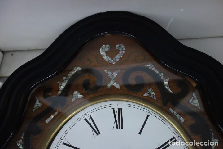 Relojes de pared: RELOJ DE PARED DE OJO DE BUEY PINTADO A MANO FUNCIONA CORRECTAMENTE - Foto 2 - 155998766