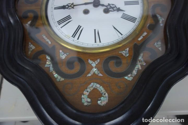 Relojes de pared: RELOJ DE PARED DE OJO DE BUEY PINTADO A MANO FUNCIONA CORRECTAMENTE - Foto 3 - 155998766