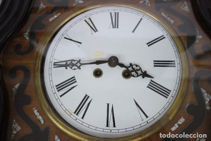 Relojes de pared: RELOJ DE PARED DE OJO DE BUEY PINTADO A MANO FUNCIONA CORRECTAMENTE - Foto 4 - 155998766