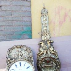 Relojes de pared: IMPRESIONANTE RELOJ MOREZ DE CAMPANA Y BORDÓN CON PENDULO REAL AUTÓMATA SIGLO XIX. Lote 156492970