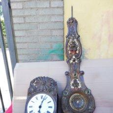 Relojes de pared: ESPECTACULAR RELOJ MOREZ DE CAMPANA CON PÉNDULO REAL CON PINTURA SIGLO XIX. Lote 156493176