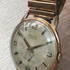 Relojes de pared: RELOJ ROYCE CARGA MANUAL 36 MM CHAPADO DE ORO LEER. Lote 156954372