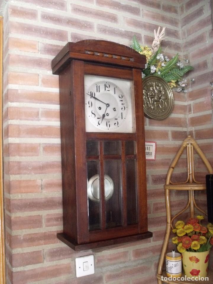 ¡¡GRAN OFERTA !! ANTIGUO RELOJ WETSMINSTER JUNGHANS- AÑO 1920- SONIDO 1/4 DE HORA (Relojes - Pared Carga Manual)