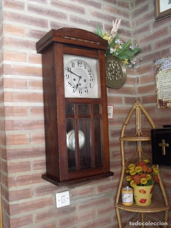 Relojes de pared: ¡¡GRAN OFERTA !! antiguo reloj wetsminster JUNGHANS- AÑO 1920- sonido 1/4 de hora - Foto 2 - 157242522