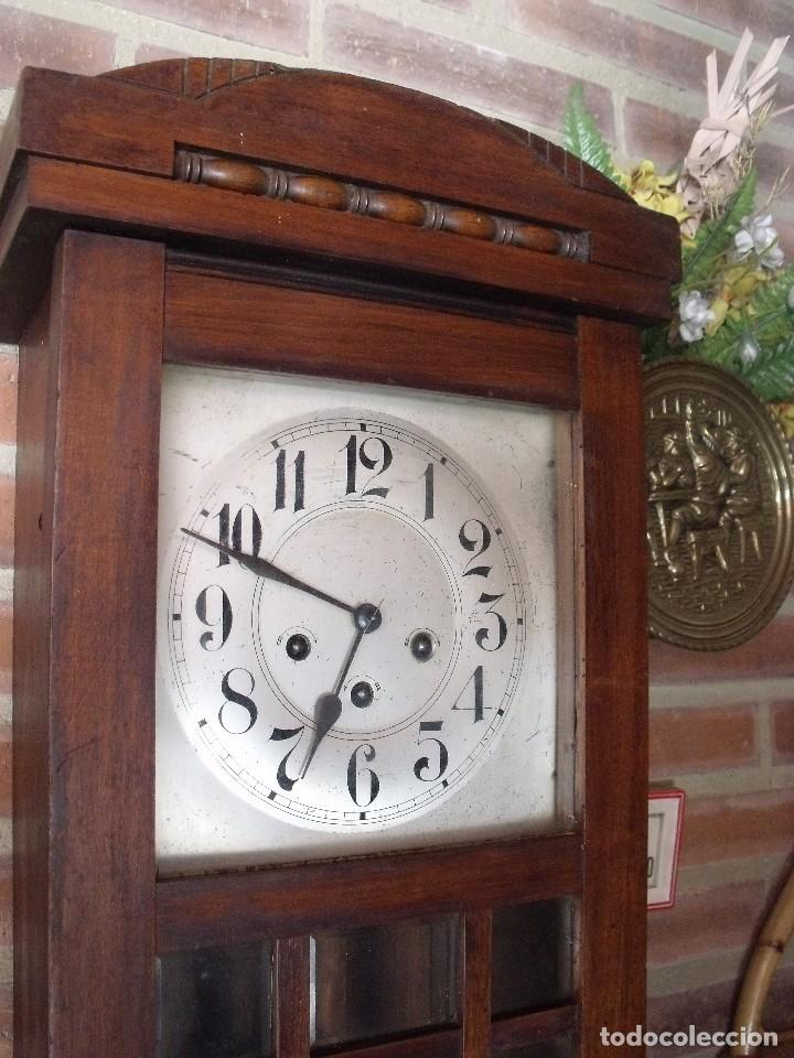 Relojes de pared: ¡¡GRAN OFERTA !! antiguo reloj wetsminster JUNGHANS- AÑO 1920- sonido 1/4 de hora - Foto 3 - 157242522