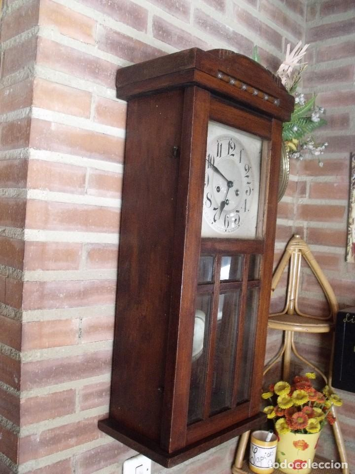 Relojes de pared: ¡¡GRAN OFERTA !! antiguo reloj wetsminster JUNGHANS- AÑO 1920- sonido 1/4 de hora - Foto 5 - 157242522