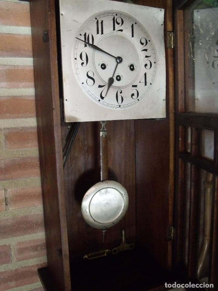 Relojes de pared: ¡¡GRAN OFERTA !! antiguo reloj wetsminster JUNGHANS- AÑO 1920- sonido 1/4 de hora - Foto 6 - 157242522