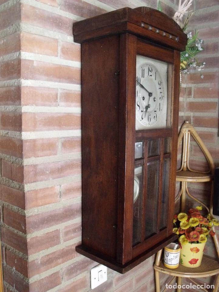 Relojes de pared: ¡¡GRAN OFERTA !! antiguo reloj wetsminster JUNGHANS- AÑO 1920- sonido 1/4 de hora - Foto 8 - 157242522