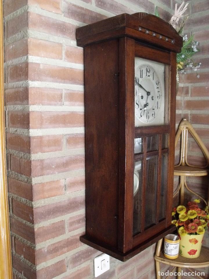 Relojes de pared: ¡¡GRAN OFERTA !! antiguo reloj wetsminster JUNGHANS- AÑO 1920- sonido 1/4 de hora - Foto 9 - 157242522