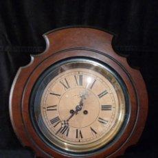 Relojes de pared: ANTIGUO RELOJ DE PARED OJO DE BUEY. MAQUINARIA WERNER DEPONIRT. RELOJERÍA P. VIDAL (VALENCIA ?) CIRC. Lote 159016866