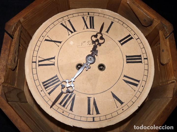 Relojes de pared: ANTIGUO RELOJ DE PARED OJO DE BUEY. MAQUINARIA WERNER DEPONIRT. RELOJERÍA P. VIDAL (VALENCIA ?) CIRC - Foto 3 - 159016866