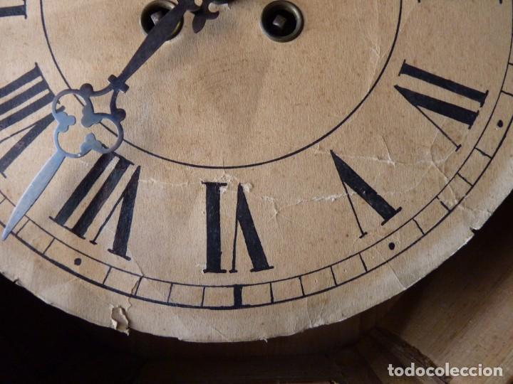 Relojes de pared: ANTIGUO RELOJ DE PARED OJO DE BUEY. MAQUINARIA WERNER DEPONIRT. RELOJERÍA P. VIDAL (VALENCIA ?) CIRC - Foto 4 - 159016866