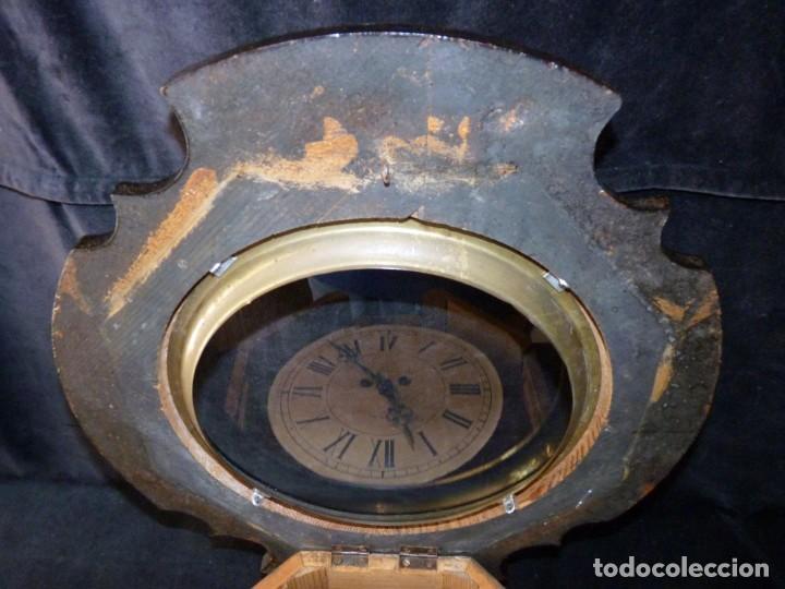 Relojes de pared: ANTIGUO RELOJ DE PARED OJO DE BUEY. MAQUINARIA WERNER DEPONIRT. RELOJERÍA P. VIDAL (VALENCIA ?) CIRC - Foto 6 - 159016866