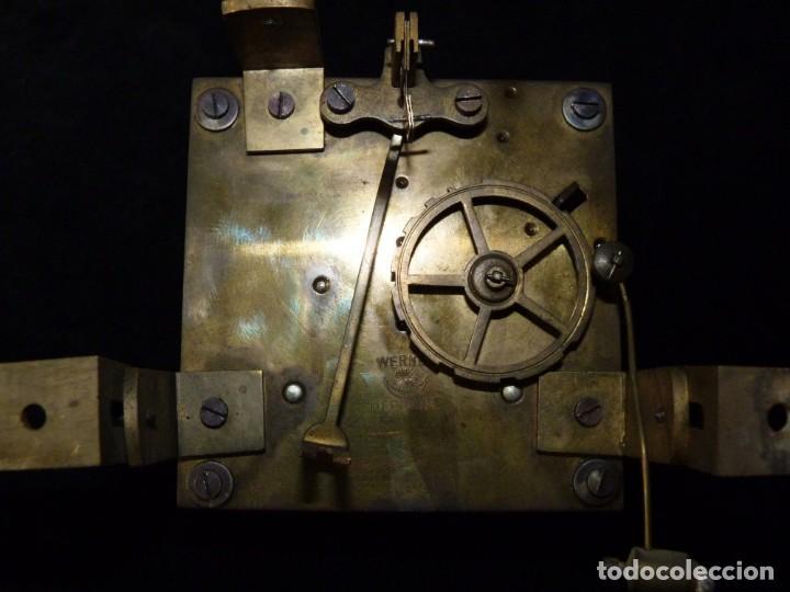 Relojes de pared: ANTIGUO RELOJ DE PARED OJO DE BUEY. MAQUINARIA WERNER DEPONIRT. RELOJERÍA P. VIDAL (VALENCIA ?) CIRC - Foto 10 - 159016866