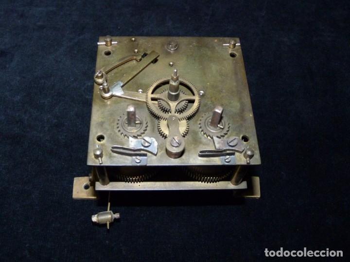 Relojes de pared: ANTIGUO RELOJ DE PARED OJO DE BUEY. MAQUINARIA WERNER DEPONIRT. RELOJERÍA P. VIDAL (VALENCIA ?) CIRC - Foto 12 - 159016866