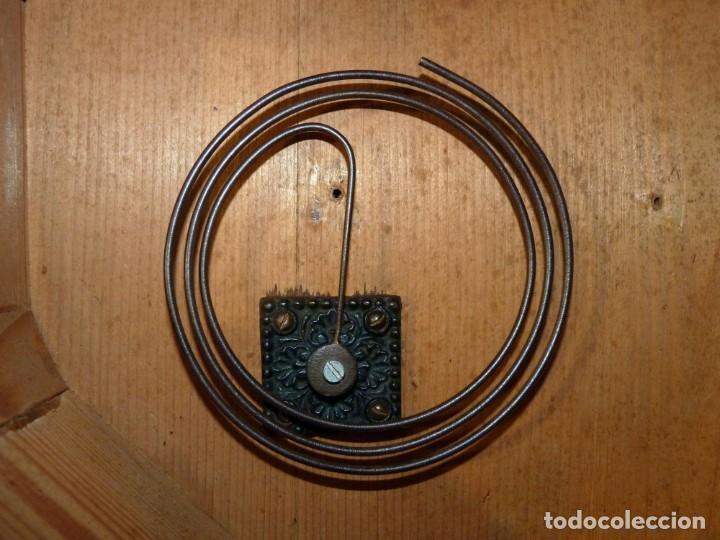Relojes de pared: ANTIGUO RELOJ DE PARED OJO DE BUEY. MAQUINARIA WERNER DEPONIRT. RELOJERÍA P. VIDAL (VALENCIA ?) CIRC - Foto 17 - 159016866