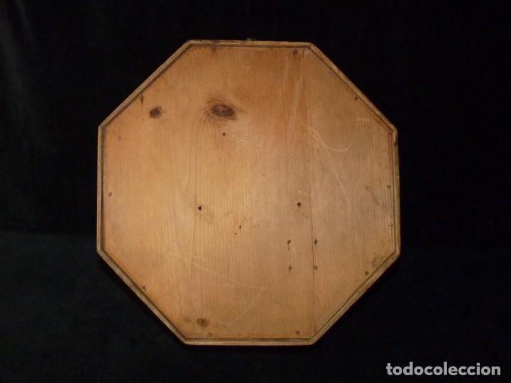 Relojes de pared: ANTIGUO RELOJ DE PARED OJO DE BUEY. MAQUINARIA WERNER DEPONIRT. RELOJERÍA P. VIDAL (VALENCIA ?) CIRC - Foto 19 - 159016866
