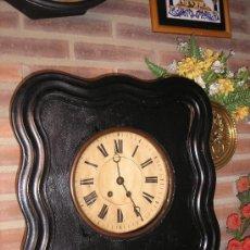 Relojes de pared: !ANTIGUO OJO BUEY MADERA- MAQUINA PARIS-AÑO 1900-10 - CAJA DE MADERA EN BUEN ESTADO. Lote 159154478