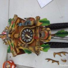 Relojes de pared: RELOJ DE CUCO DE MEDIADOS DEL SIGLO XX FUNCIONA CORRECTAMENTE . Lote 159253994