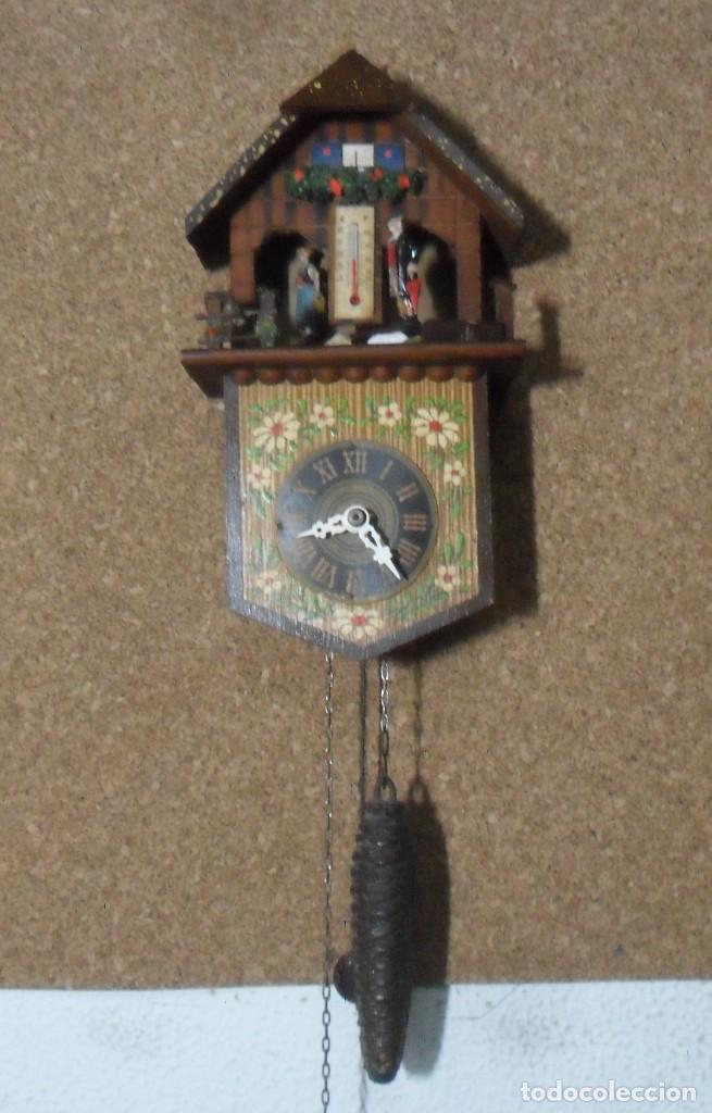 RELOJ ALEMÁN MECÁNICO RATERA CON TERMÓMETRO E HIGRÓMETRO (Relojes - Pared Carga Manual)