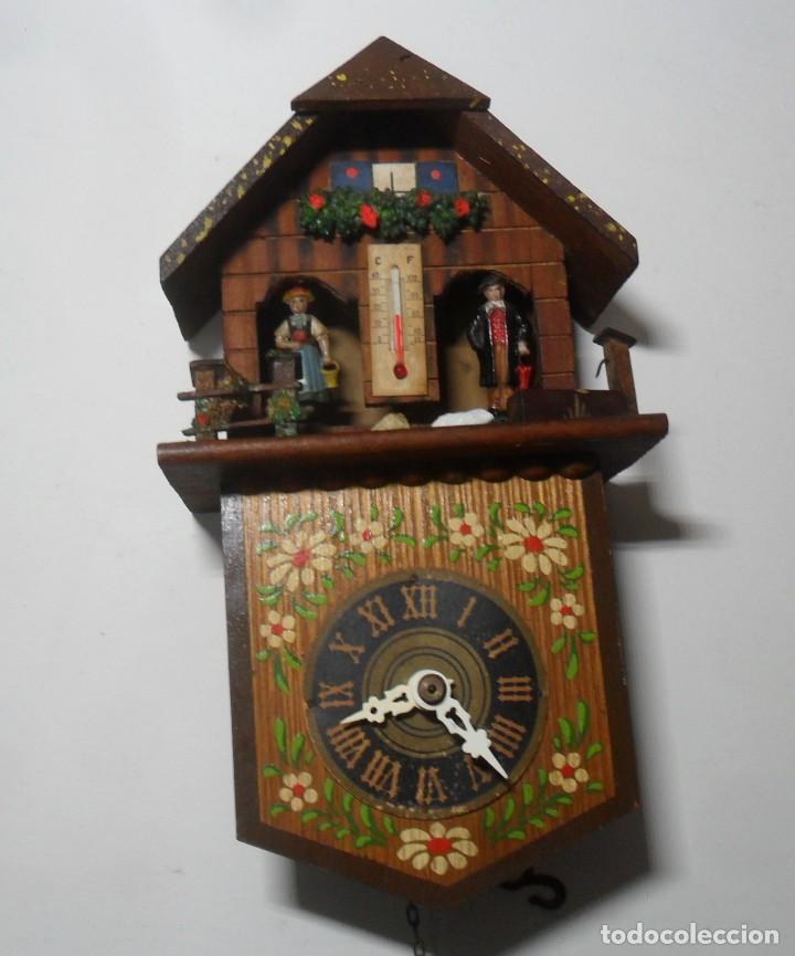 Relojes de pared: Reloj alemán mecánico Ratera con termómetro e higrómetro - Foto 2 - 159439630