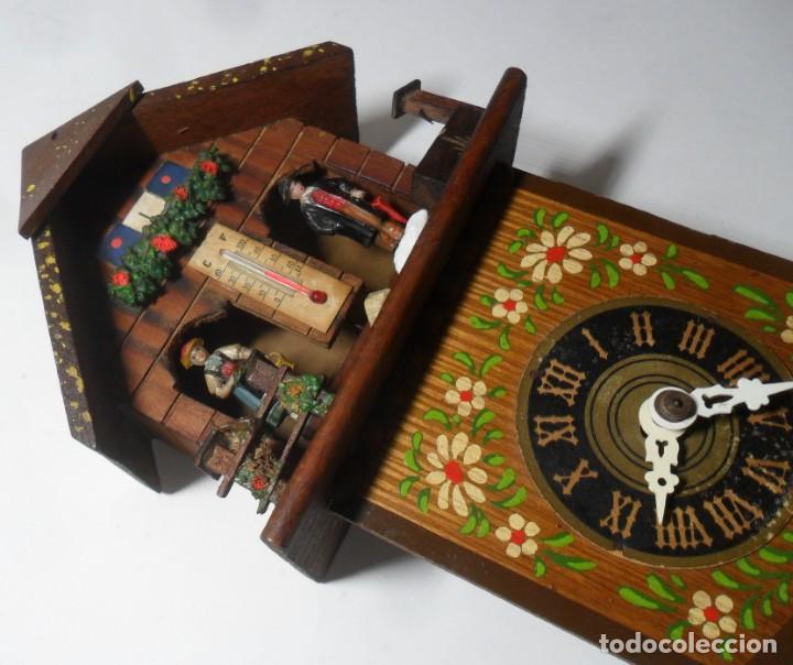 Relojes de pared: Reloj alemán mecánico Ratera con termómetro e higrómetro - Foto 3 - 159439630